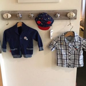 Other - Cardigan, button down, hat set